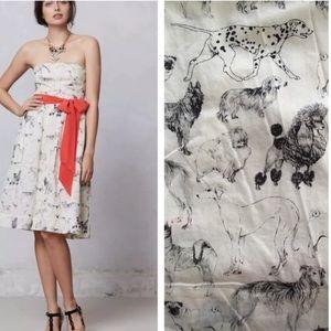 Anthropologie Novelty Fetch & Frolic Dress